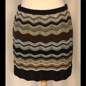 M Missoni chevron mini skirt